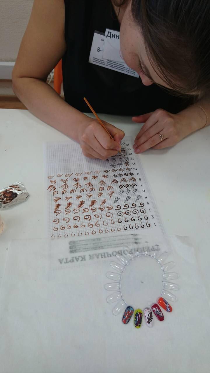 отработка дизайна ногтей